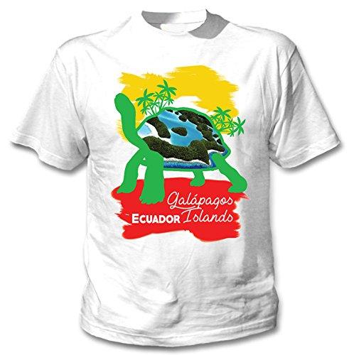 teesquare1st Galapagos Ecuador 2 Camiseta Blanca para Hombre de Algodon Size Xxlarge