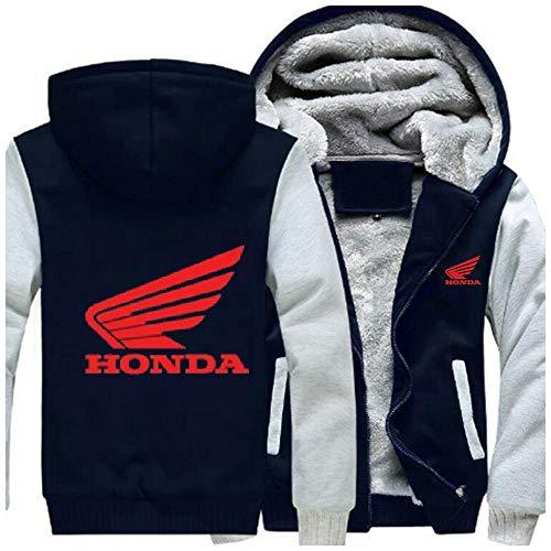 RUIBAG - Sudadera con capucha para hombre, con logotipo de Honda, para hombre