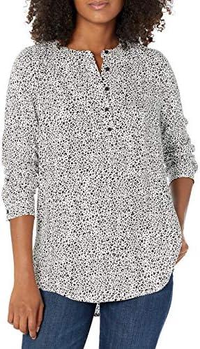 Amazon Essentials Women s Long Sleeve Woven Blouse Mini Leopard XX Large product image
