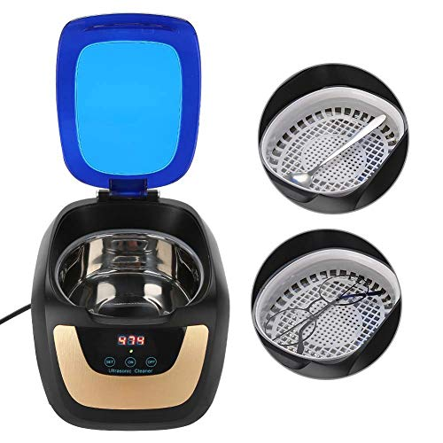 Ultraschall Sterilisator Nagel Werkzeuge Reiniger, Intelligenter Sterilisations Gerät Desinfektion Maschine für Uhr Schmuck Brillen Reiniger mit Timing 90s/180s/280s/380s/480s