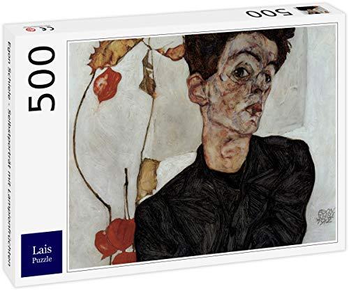 Lais Puzzle Egon Schiele - Selbstporträt mit Lampionfrüchten 500 Teile