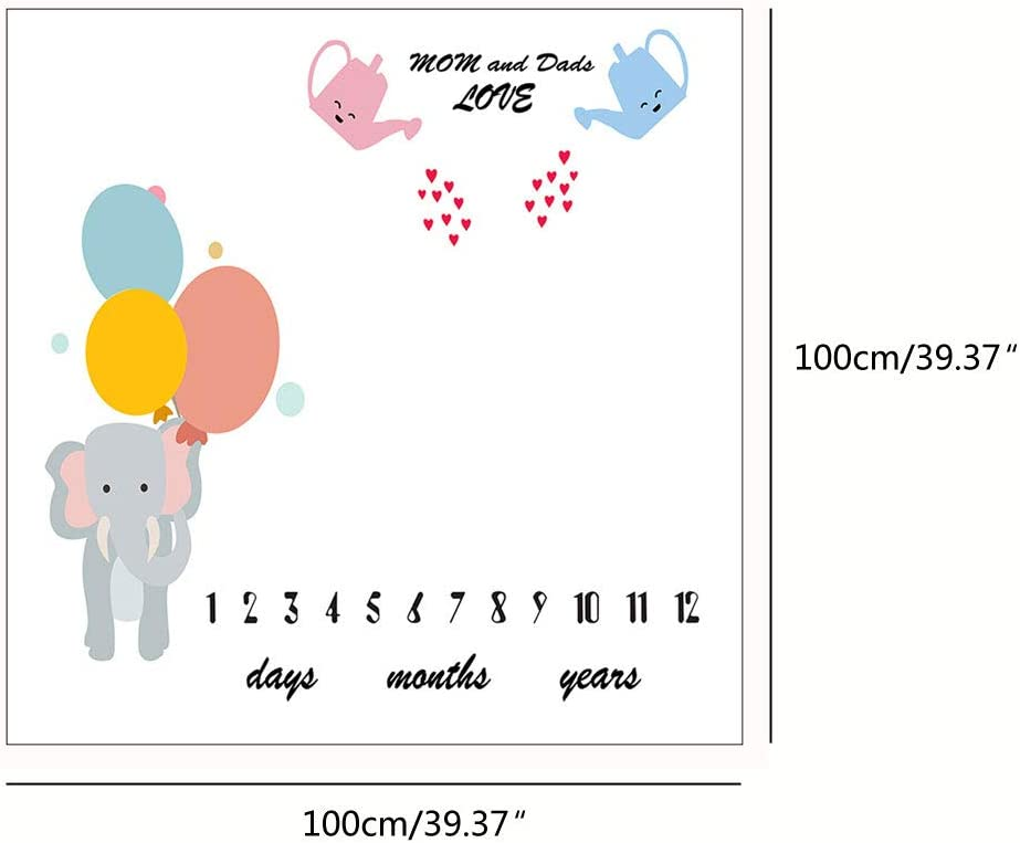 Sayletre b/éb/é Nouveau-n/é Milestone Couvertures Serviettes de Bain imprim/é Fleurs Doux Couverture Photographie Blanket Bricolage b/éb/é Photographie Props