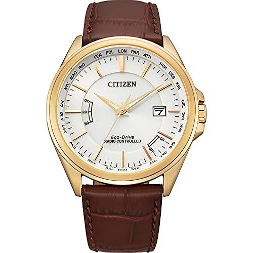 Citizen Reloj solar controlado por radio para hombre, elegante Eco-Drive, cristal de zafiro, CB0253-19A