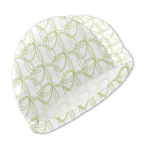 Oeufs de Pâques Motif Abstrait Bonnets de Bain Verts Enfants Bonnet de Bain Confortable imperméable