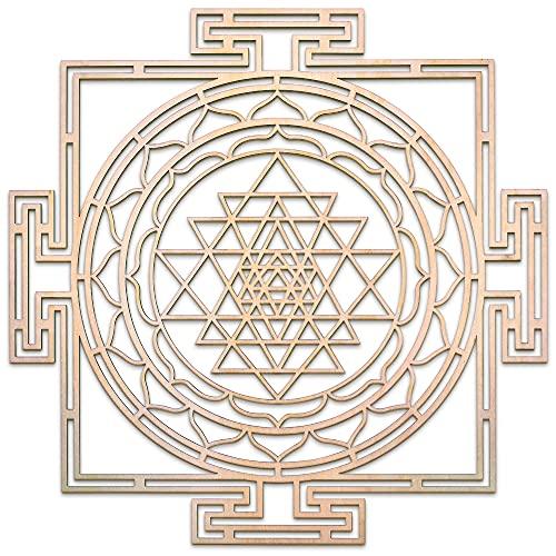 """Sri Yantra Maze 12"""" , Thick, Chakra Wooden Wall Art, Wooden Wall Art Decor, Sacred Geometry Art, Geometry Art, Tapestry, Poster"""