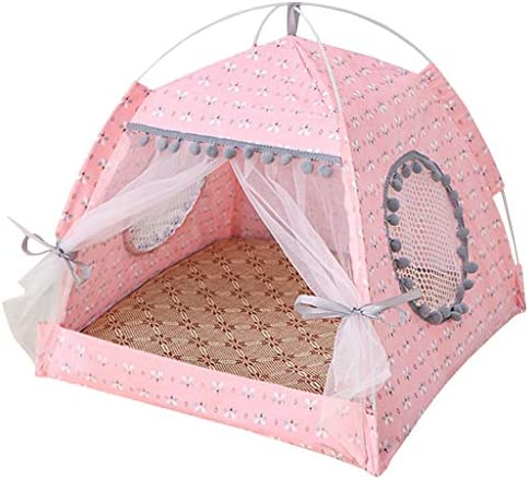 EaGo Pet Bed Tent Foldable Dog House Cat Kennel Indoor Portable Travel Puppy Mat product image