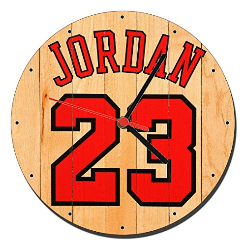 MasTazas Michael Jordan Chicago Bulls 23 Reloj de Pared Wall Clock 20cm