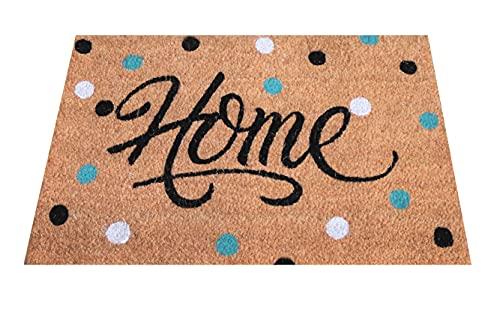 Felpudo de Coco Natural, felpudos Entrada casa, Alfombra Limpia Zapatos, Felpudo Exterior, Alfombra Entrada casa Interior, felpudos Originales y Divertidos, 40x60 (Home Colours)