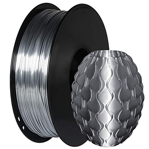 GIANTARM Filamento PLA 1.75mm Silk Argento, Stampante 3D PLA Filamento 1kg Spool