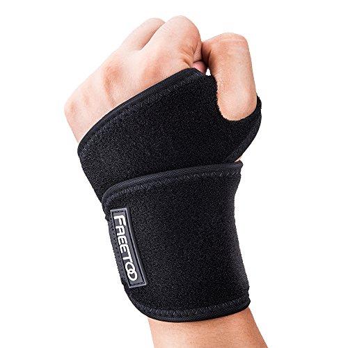 FREETOO Handgelenk Bandagen Sport Handgelenkstütze für Damen und Herren Fitness Handgelenkbandage Handbandage Handgelenkschoner zur Unterstützung Wrist Wraps für Kraftsport, Crossfit, Krafttraining