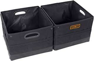 BDK 2pc Cubit Modular Trunk Organizers - Heavy Duty Waterproof Cargo Storage for Cars Trucks Vans & SUVs - Portable Collapsible & Cubit Compatible