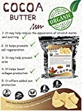 Raw Cocoa Butter Natural Moisturizer 100% Pure Unrefined 5 Pounds Raw Dark Non-Deodorizer Stretch Marks and Body Butter For Soap Making Cosmetic Grade.