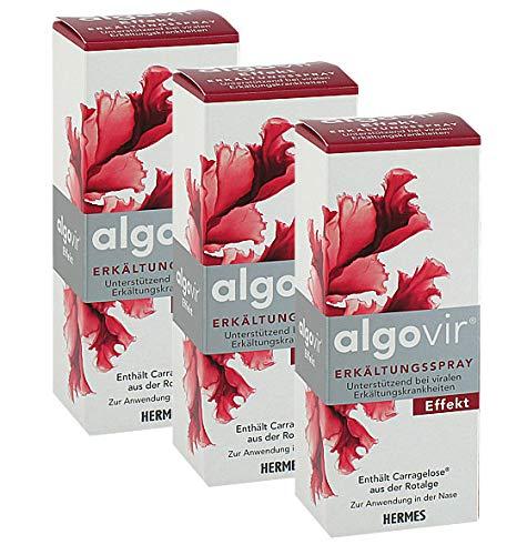 algovir Erkältungsspray 3x20 ml Spray Effekt enthält Carragelose aus der Rotalge