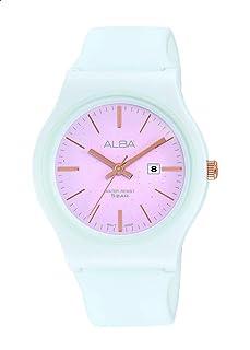 ساعة انالوج AH7U63X دائرية مقاومة للماء للنساء من البا فاشون - لون ازرق داكن