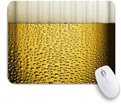 Mausmatte Mauspad Bier Schaum einfache einzigartige Illustration kundenspezifische Kunst Mauspad rutschfeste Gummibasis für Computer Laptop Schreibtisch Schreibtischzubehör