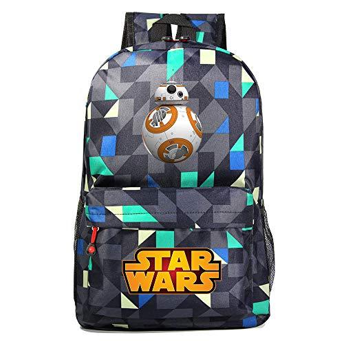 Mochila Star BB-8 Wars, Mochila Casual para Adolescentes, Mochila Grande Ligera Escuela, Mochila de Senderismo de Viaje Medio color-15