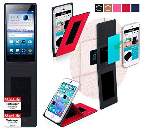 Hülle für Oppo Neo 5s Tasche Cover Hülle Bumper | Rot | Testsieger