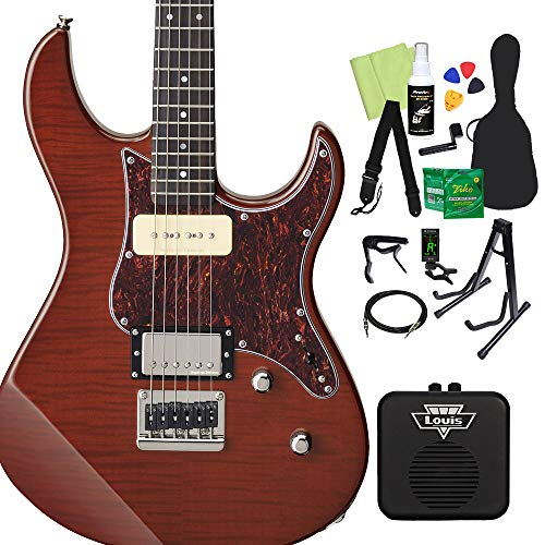 YAMAHA PACIFICA611HFM RTB エレキギター初心者14点セット 【ミニアンプ付き】 ルートビア ヤマハ