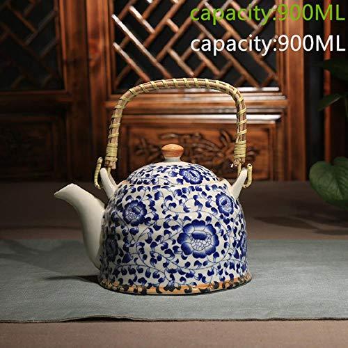 VINER Tetera de cerámica Cocina Tetera hervida Tetera de cerámicaHervidor de PorcelanaUna Gran Variedad de Colores, como Color de Imagen