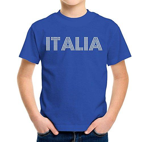 Euro 2016 Football Italy Italia Dots Blue Kid's T-Shirt