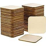 Bright Creations Azulejos de madera sin terminar (Paquete de 60) - Recortes de baldosas cuadradas de...