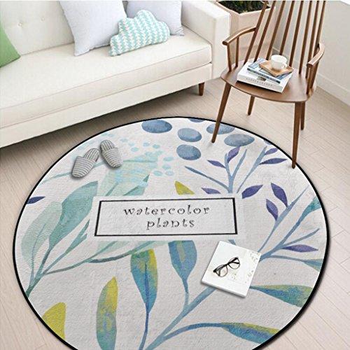 HAOJUN *Bereich Teppich Runder Teppich, Schlafzimmer Wohnzimmer Sofa Couchtisch Otto Erde Matte Yoga Matte Runde Decke Teppich (Farbe : #3, größe : 150 * 150cm)