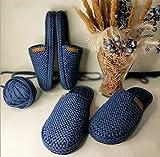 JJZXLQ Zapatos de Bricolaje Ganchillo Hecho a Mano Hombres Mujeres Unisex Zapatillas, Zapatillas de casa de Ganchillo para Mujer, Zapatillas De Casa De Color Clásico Zapatillas,e,37