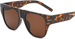 JOYS CLOTHING 男性用ミラーサングラスミラーフラットレンズメタルフレームメガネ (Color : B)