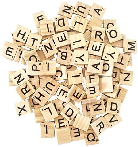 1000PCS Scrabble Letters for Crafts DIY Wood Gift Decoration Making Alphabet Coasters and Scrabble product image