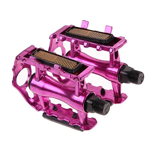 Everpert Rock Plattform Mountainbike/MTB/Flat Pedale mit Hochwertigen Industrie-Kugellagern, Trekking, E Bike Fahrradpedale aus Alu, (Pink)