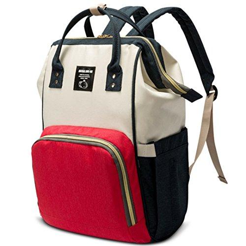 Diaper Bag Backpack Nappy Baby Boys Girls Mommy Tote-Designer Style-Wet Dry Separation-Multi Function Large Travel Organizer-Mom Dad Babies Handbag-Waterproof Stroller Friendly Design
