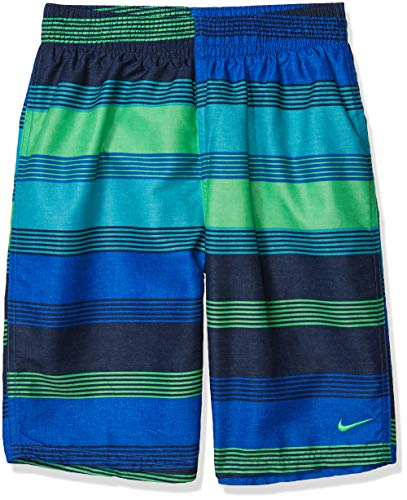 Nike Swim Men's Printed Volley Short Swim Trunk, Green Spark 6: 1 Linen, Small