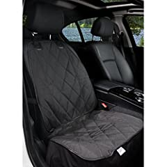 Black & Waterproof: Designed for front passenger seats on all standard vehicles, trucks & SUVs. Made with high-quality heavy-duty polyester for durability. Triple Layered Waterproof PU for Extra Comfort. Quilted pattern for a high-end luxury feel. In...