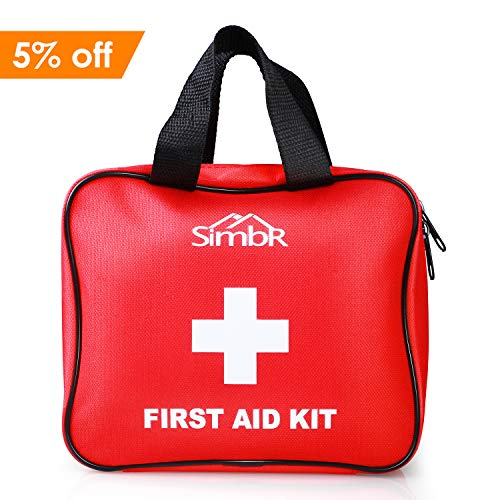 SIMBR Botiquín de Primeros Auxilios con 121 Artículos para Emergencia al Aire...