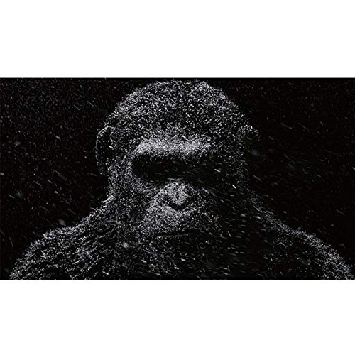 Terilizi Caesar Planet of The Apes Poster Painting Gorilla Animal Scandinavia Carteles E Impresiones Wall Art Pictures For Living Room Black-50X100Cm Sin Marco