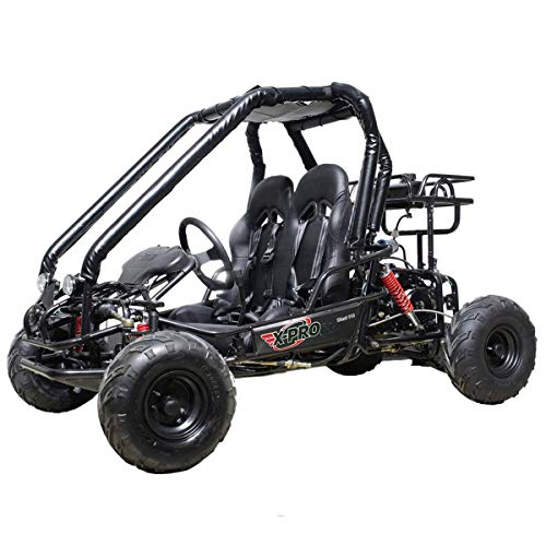 X-PRO Blast 110 Kids Gokart Dune Buggy Youth 6.8hp Go Cart with LED Headlights and Remote Control,Big 14.5