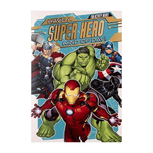 Hallmark Marvel's Avengers Geburtstagskarte für Kinder, mit Aktivität