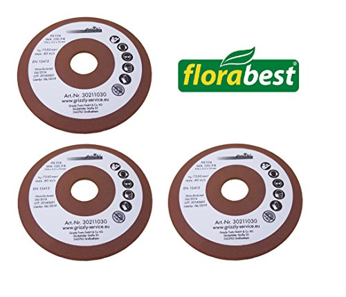 3x Florabest Schleifscheibe Kettenschärfgerät FSG 85 B1 IAN 109744