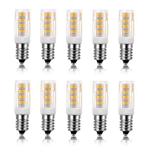 Vlio E14 5W LED Light Bulb, 10 Pack, Warm White 3000K, 40W Incandescent Bulb Equivalent, 400LM 52 LED 2835-SMD Light, Not Dimmable, AC 110V