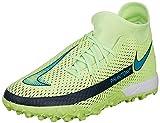Nike Jr Phantom GT Academy DF TF, Zapatillas de ftbol, Lima Glow Aquamarine Off Noir, 36 EU