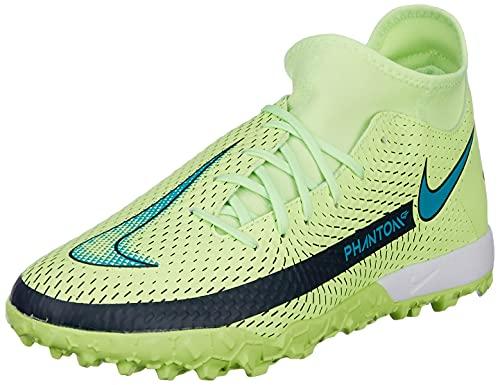 Nike Unisex Jr. Phantom GT Academy Dynamic Fit TF Soccer Shoe, Lime Glow/Aquamarine, 37.5 EU