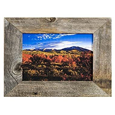 MyBarnWoodFrames - Rustic Reclaimed Barnwood 16x20  Picture Frame (2 Inch Frame Width)