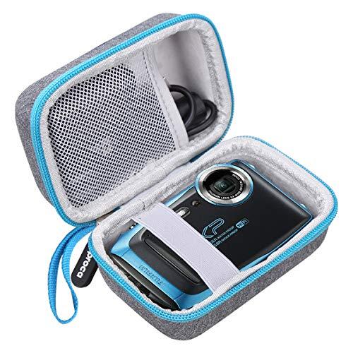 Aproca Hart Schutz Hülle Reise Tragen Etui Tasche für Fujifilm FinePix XP120/130/140/80/90 Digitalkamera (Grey with Blue Zipper)