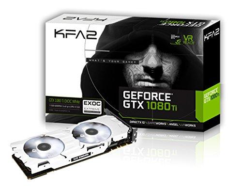 KFA2 GTX 1080 Ti EXOC white PCI-E Gaming-Grafikkarte, 11GB GDDR5X, weiß
