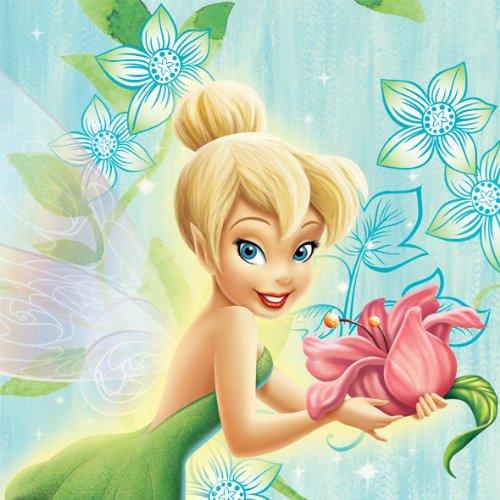 Disney Amscan Tinkerbell Servietten Blumen