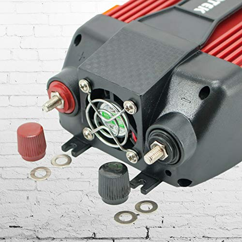 Audiotek 900W Watt Power Inverter DC 12V AC 110V Car Converter Fast USB Ports Charger