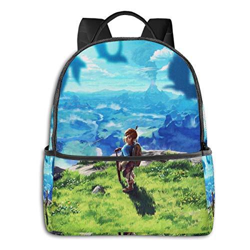 Anime The Legend of Zelda Breath of The Wild Student Bag - Mochila para estudiantes, unisex, diseño de dibujos animados, 14,5 x 30,5 x 12,7 cm