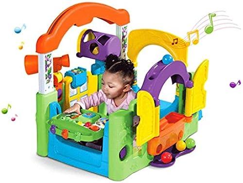 Puzzle Kinderspielzeug frühe Kindheit Baby Spielen Haus Eltern-Kind-interaktive Spiele erstaunliche Kinderspielzeug (Farbe   lila, Größe   63.5  63.5  84.46cm)