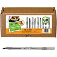 400-Count BIC Medium Point Round Stic Xtra Life Ball Pen