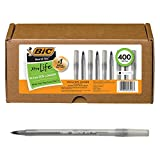 BIC Round Stic Xtra Life Ball Pen, Medium Point (1.0mm), Assorted Colors, 400-Count
